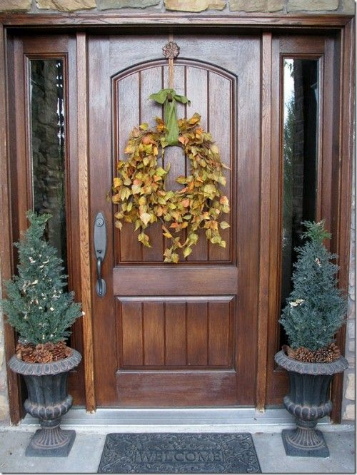101 Fall Wreath Ideas: Fall Front Porches, Fall Leaves, Simple Fall, Doors Decor, Front Doors, Fall Door, Fall Wreaths, Wreaths Ideas, Autumn Wreaths