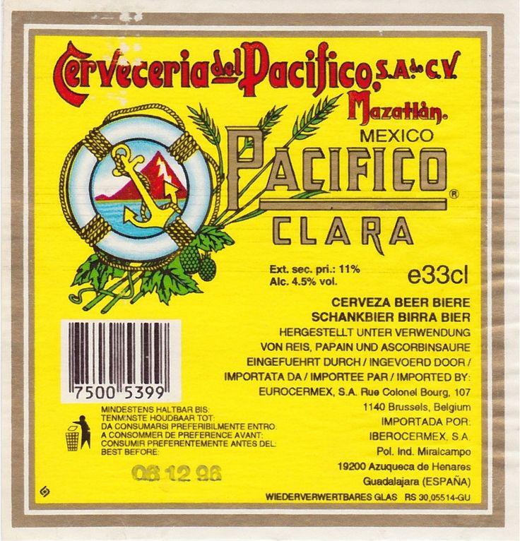 Pacífico Clara, Pale Lager 4,5% ABV (Grupo Modelo (Corona), Méjico) #label