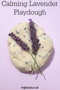 Calming Lavender Playdough sensory activity for kids