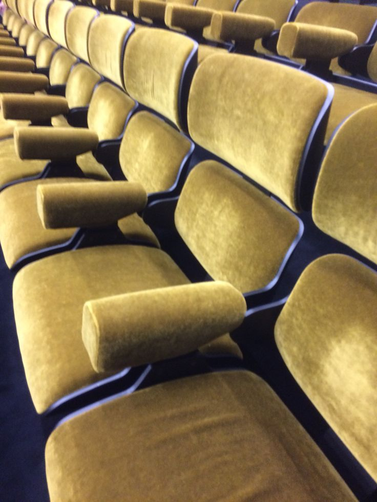 Cinema seats at Fondazione Prada