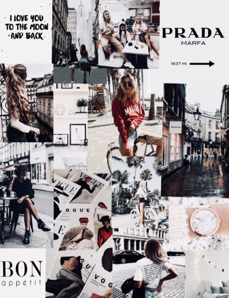 Collage Vogue Wallpaper Collage Background Fashion Collage