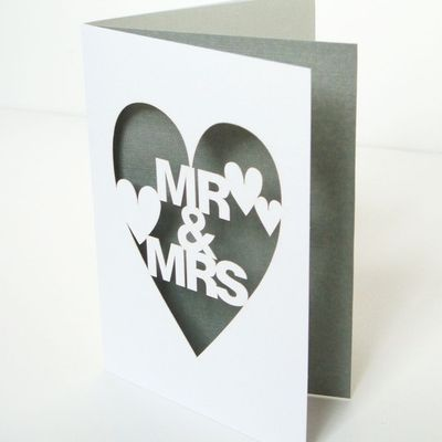 I'm loving these cut paper invites for a wedding or a thank you.