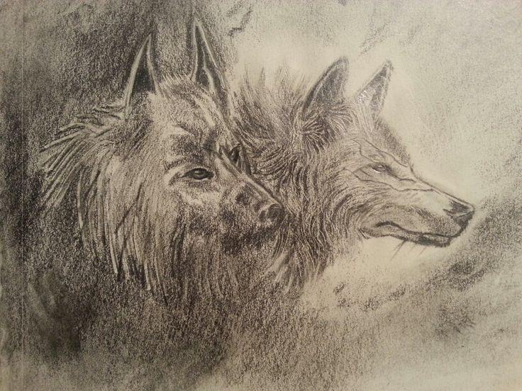 Lobos. Grafito