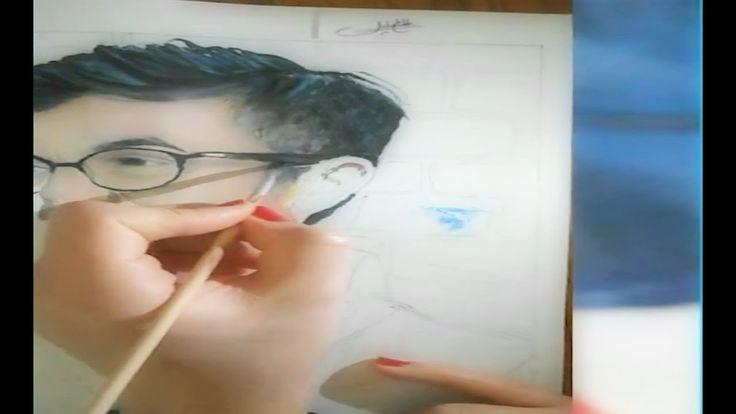 رسم متحرك للفنانة التونسية نسرين الحاج خليل لعمر ارناؤوط