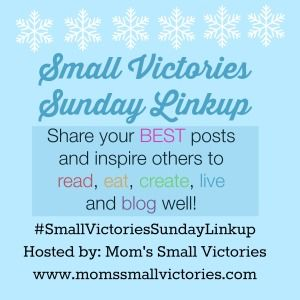 Small Victories Sunday Linkup {36} - Share your best posts with us to inspire our readers to read, eat, create, live and blog well! FIVE Featured Bloggers today: books, Delayed Onset Muscle Soreness, What to Buy in February and Top 10  Plugins for new bloggers.