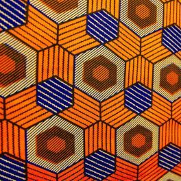 Tissu wax à motifs africain 100% coton