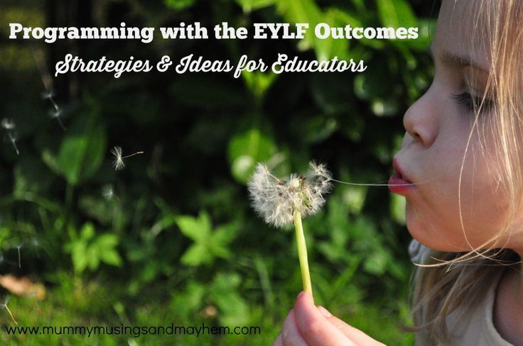 Program and activity planning strategies for early years educators using the EYLF learning framework outcomes.