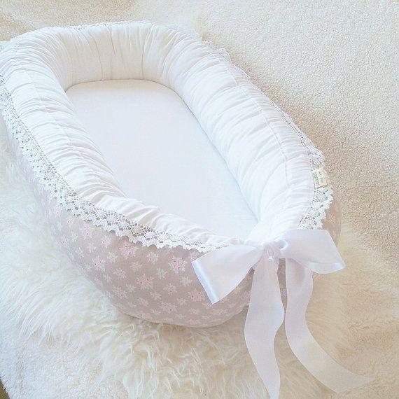 Tilda Jane babynest / baby nest Lace& satin ribbon
