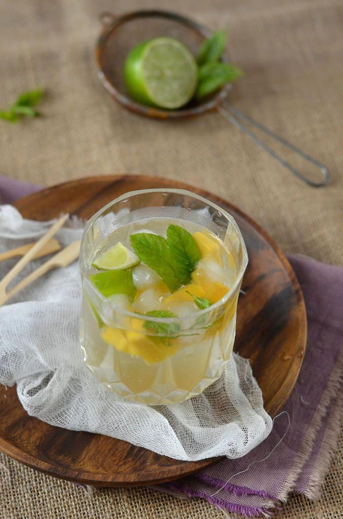 Mojito à la mangue sans alcool {ou avec...} - Tangerine Zest