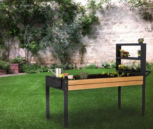 guyon jardin therapeutique rectangulaire PMR handicapé / Guyon rectangular therapeutic planter for handicaped persons or with reduced mobility