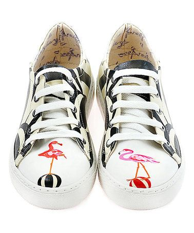 Loving this Black & White Flamingo Printed Sneaker on #zulily! #zulilyfinds
