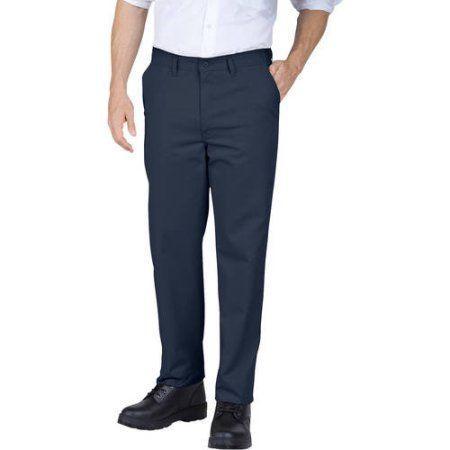 Genuine Dickies Flat Front Comfort Waist Flex Pant, Men's, Size: 38 x 30, Blue