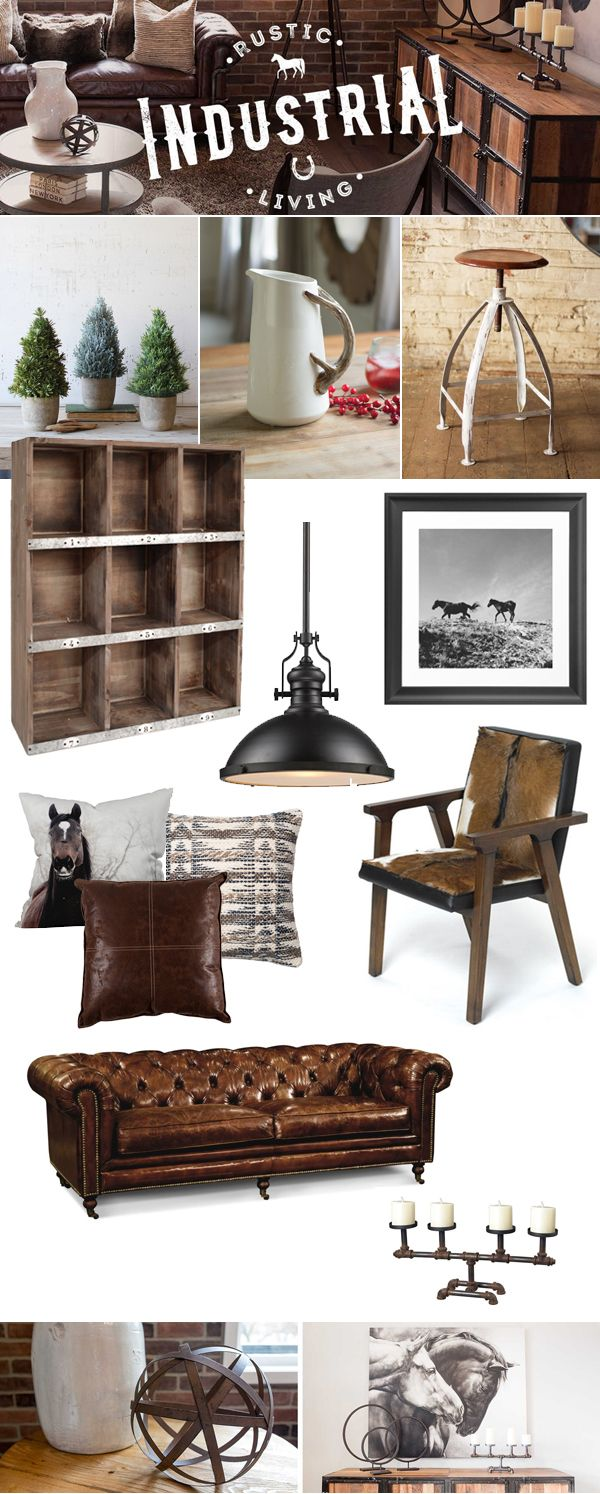 rustic industrial living - Industrial Living Room Decor