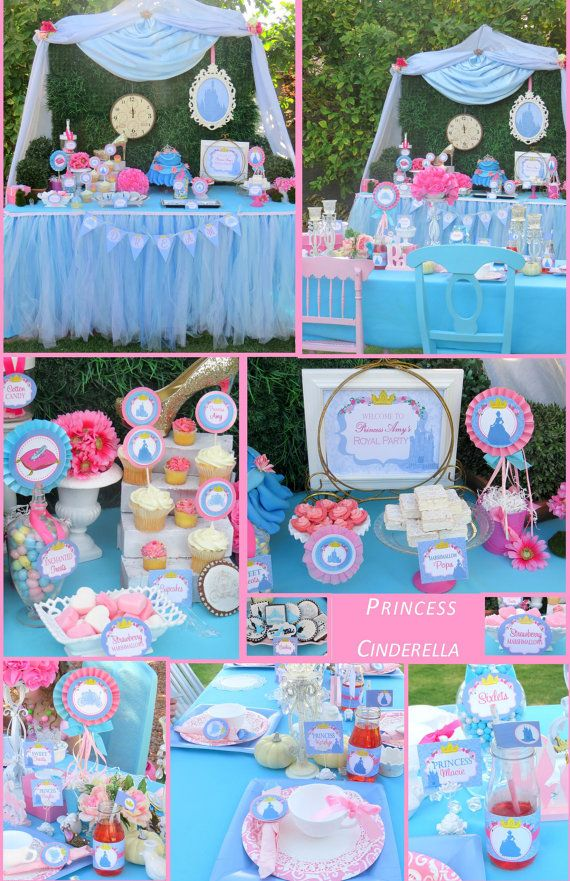 CINDERELLA Party Disney Princess Party Girls by KROWNKREATIONS