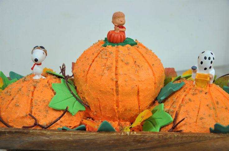 Pastel La Gran Calabaza Snoopy y Charlie Brown Peanuts The Great Pumpkin Cake DIY