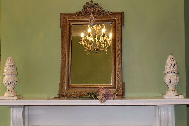 Elegant French shabby mantlepiece