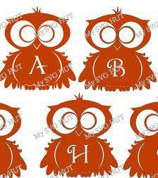 Alphabet Owl template by MySVGHUT on Etsy