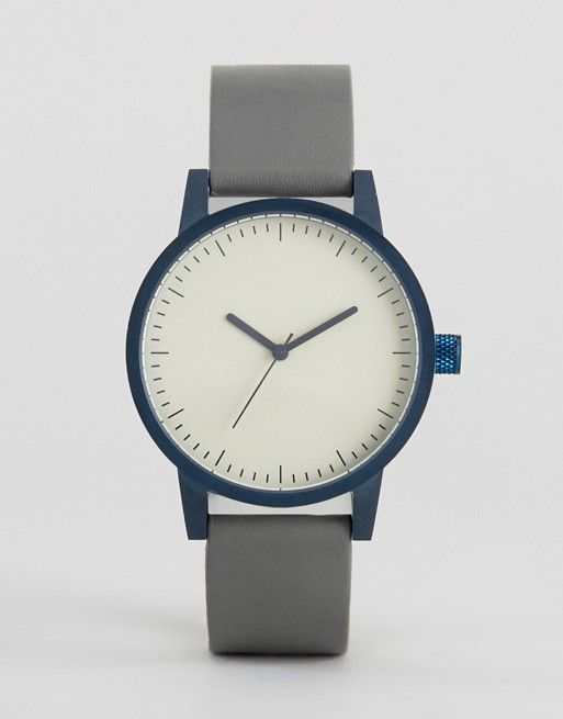 Simple Watch Company | SWCO Kent Leather Watch In Grey 38mm