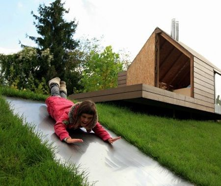 Summertime Dreaming | House & Home - but how do you keep from crashing into the side of the house?