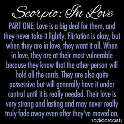 Scorpio: In Love, Part One: