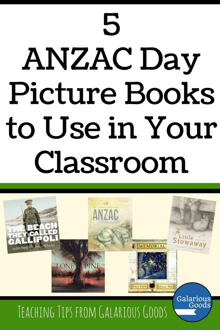 5 ANZAC Day Picture Books to Use in Your Classroom from Galarious Goods. Explore these five books and different ways to use them in the classroom to teach ANZAC Day to your students #galariousgoods