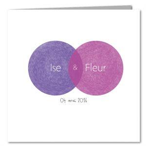 Ise&Fleur, Geboortekaartje, meerling, tweeling, meisje, robot, retro, modern