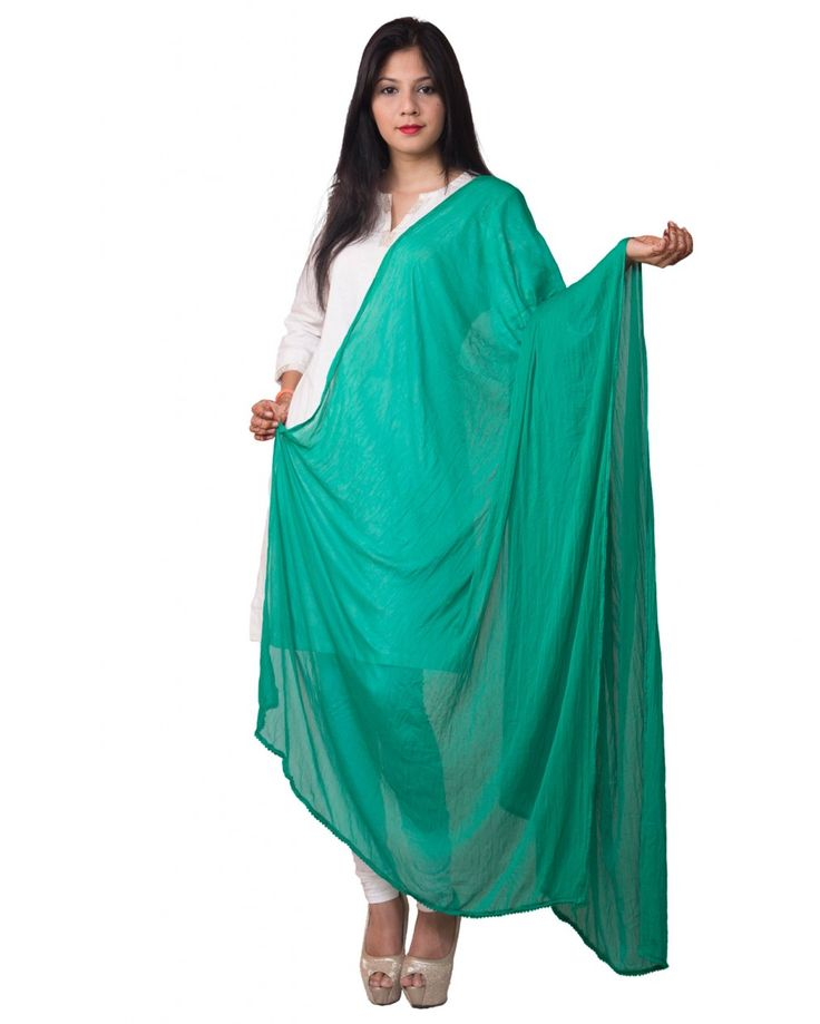 Bottle Green Color  Soft Chiffon Dupatta