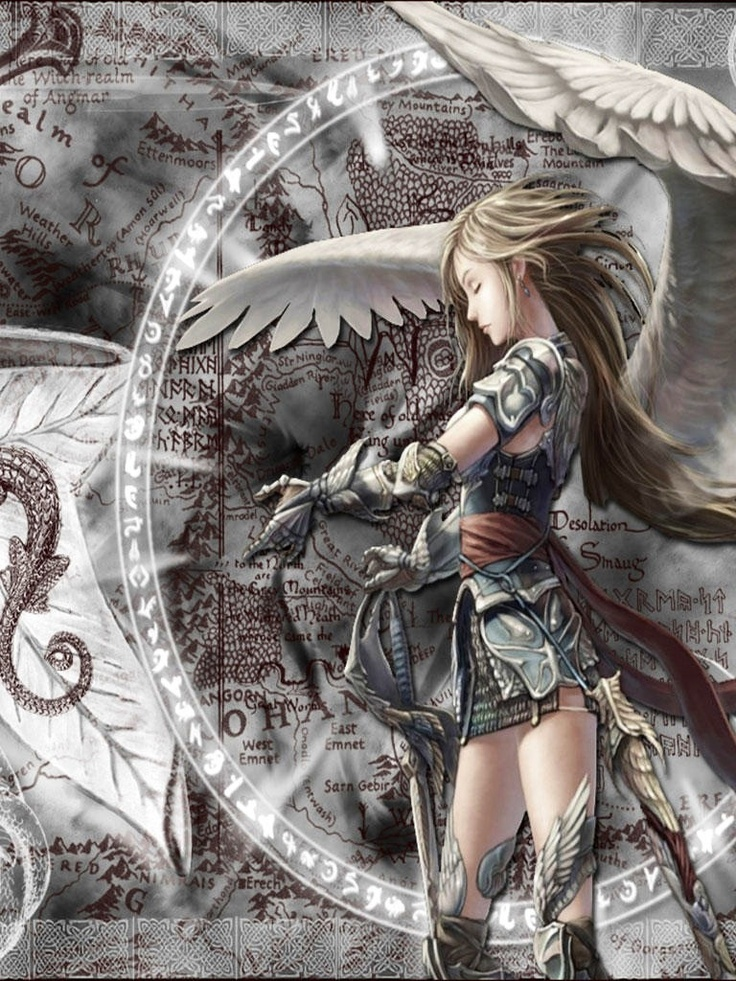 45 best images about female anime knight on pinterest - Anime female warrior ...
