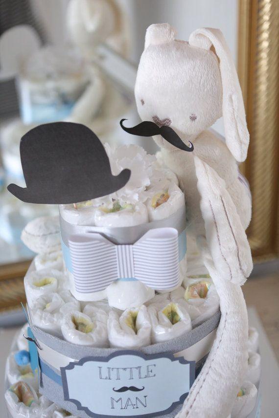 Neonato pannolino torta / baffi doccia di AngAngBabyUS su Etsy