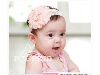 Ny Hårband med vit blomma för baby 3-36 månader