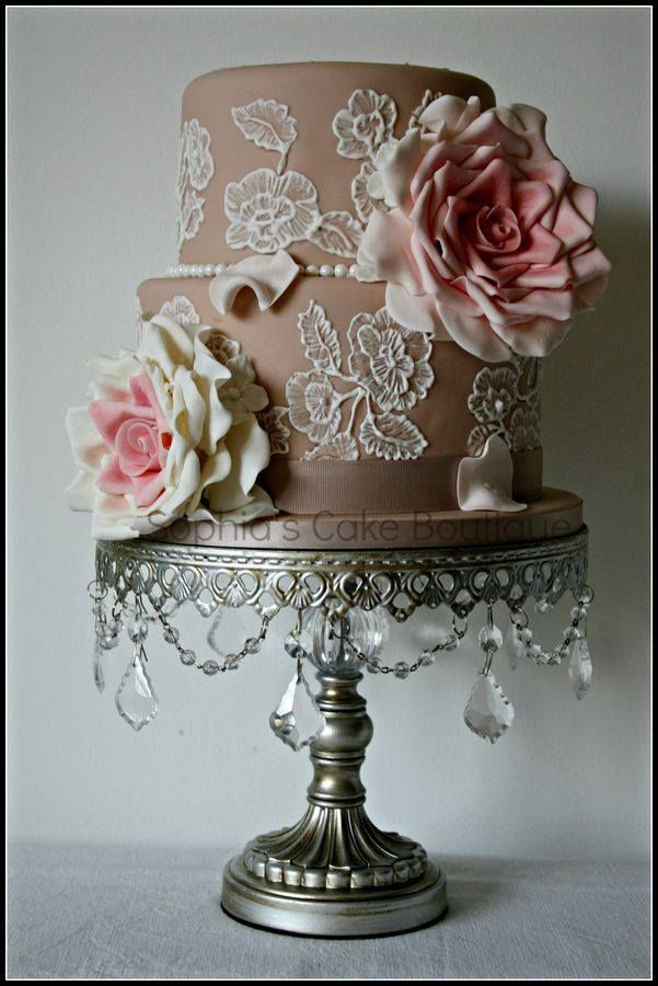 embroidered lace wedding cake white icing 372 best images about cake design lace cakes on 14011