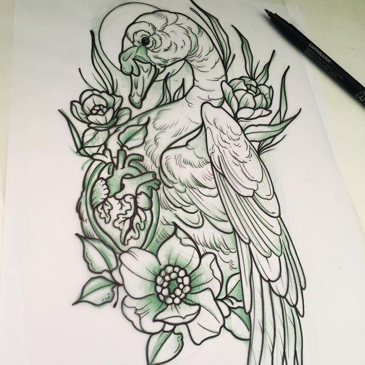 50 minute sketch for today. #swantattoo #neotraditionalswantattoo #neotraditionalswan #elektrotinte #tattoo #tattoocologne #colognetattoo #köln #kölle #kölnergram #kölntattoo #tattooköln #neotrad #neotradswan #neotraditional #anatomicalheart #anatomicalhearttattoo #philkaulen #blutjugend