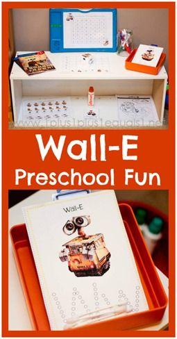 Wall-E Preschool Fun from @{1plus1plus1} Carisa