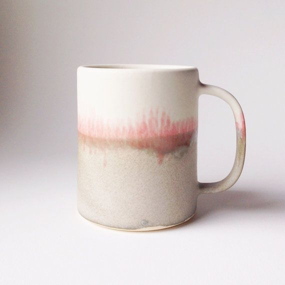 winter landscape mug by paper and clay studio on etsy.