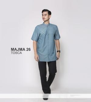 Baju Kemeja Pria Koko Majma 26 Toska - Size S - Ramadhan Sale