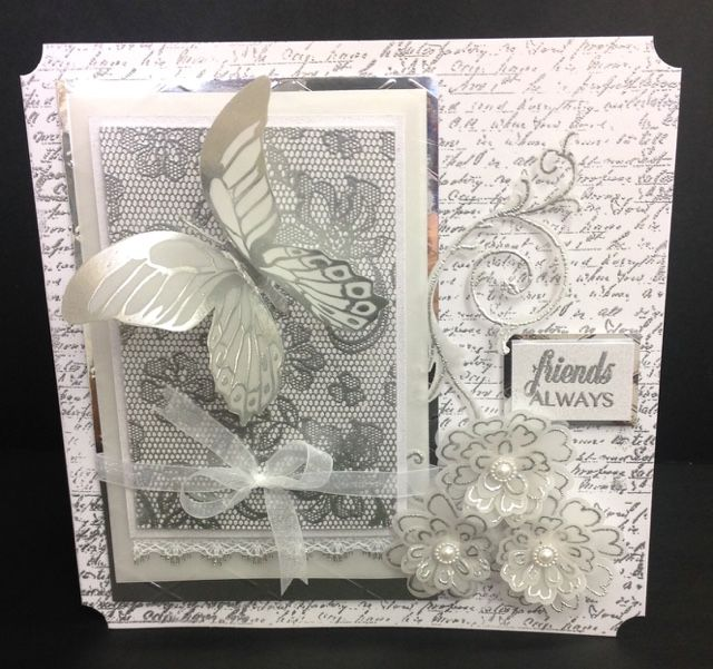 James's crafty hideaway : Simple little white & silver card...