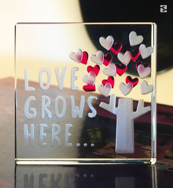 Love Grows Here... Heart Mini Token by Spaceform.
