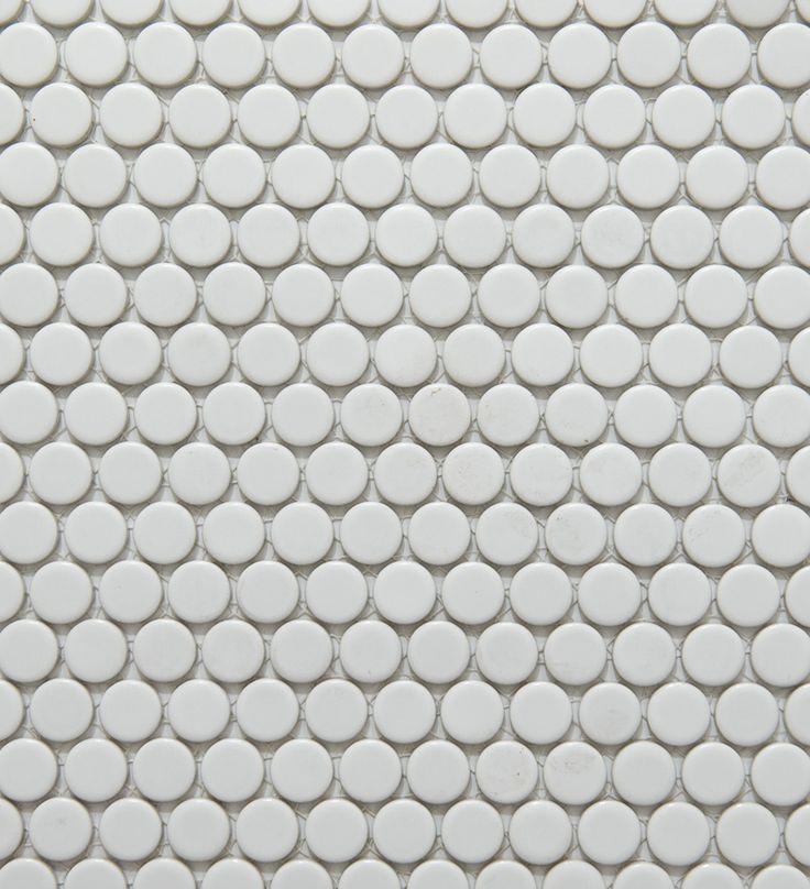 Academy Tiles Ceramic Mosaic Glazed Penny Rounds