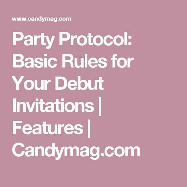Best 25 debut invitation ideas on pinterest debut invitation party protocol basic rules for your debut invitations features candymag stopboris Gallery