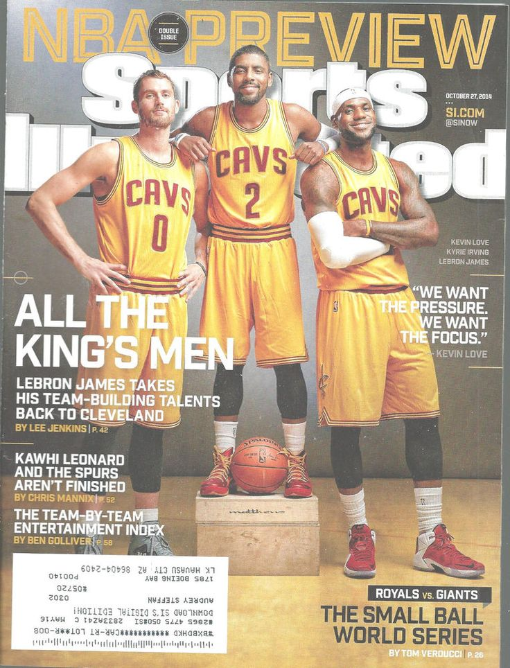 LeBron James Kevin Love Kyrie Irving Sports Illustrated Magazine, Oct 27, 2014