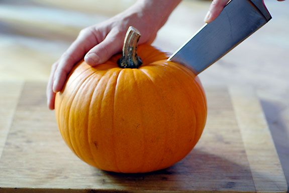 """The best way I've found to  cook your own pumpkin for delicious fall recipes. Rinse pumpkin, cut in half, scoop out seeds, place face down in baking dish, add 1/4"""" water and roast in 350 degree oven for 1 hour. Let cool and simply scoop out pumpkin flesh from the skin. Store in fridge for up to a week or freeze. Tastes better, is cheaper and healthier than pumpkin puree from the can."""