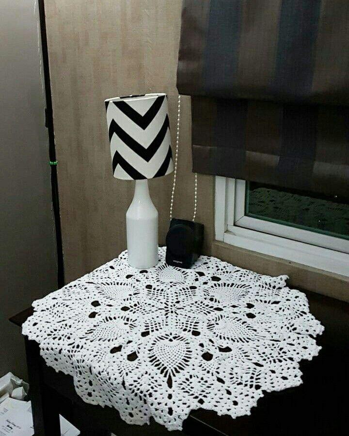 Tablecloth nanas #crochet