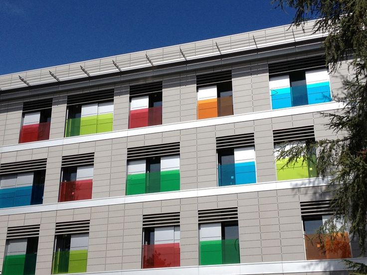 #Camplus Bononia, Bologna. So many coloured windows!