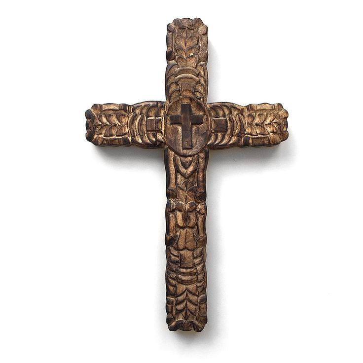 St. Maria's cross. Hand carved wooden old style looking cross. Wall hanging. Christianity. Religion. Gift. Wood carving.
