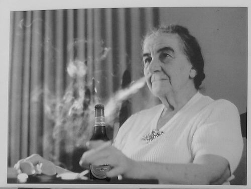"""When Golda Meir was Prime Minister of Israel, she was asked to place a curfew on women to end a series of rapes. However, Meir refused and replied, """"But it is the men who are attacking the women. If there is to be a curfew, let the men stay at home""""."""