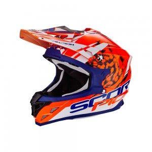 Scorpion Crosshelm VX-15 Evo Air Kistune Orange/Blue/White