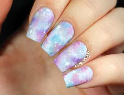 Holographic Pastel Galaxy Nails   Tutorial!