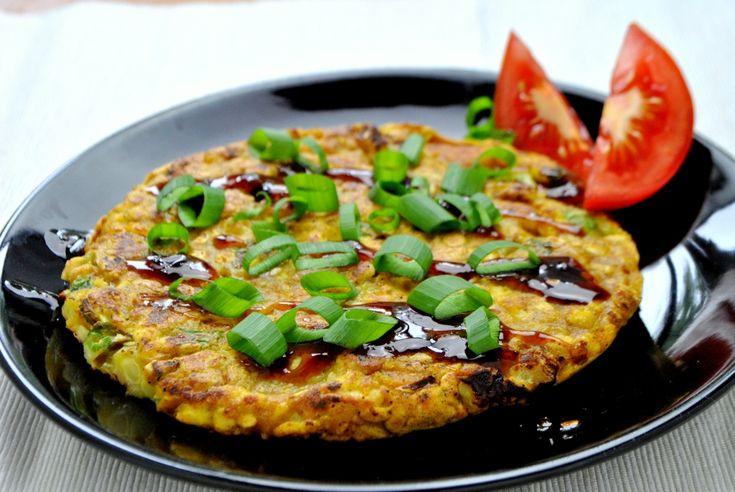 Wegański omlet cukiniowy