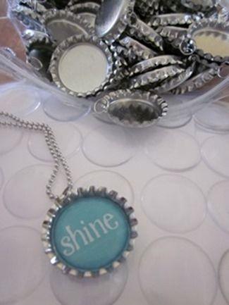 bottle cap necklaces for girls camp