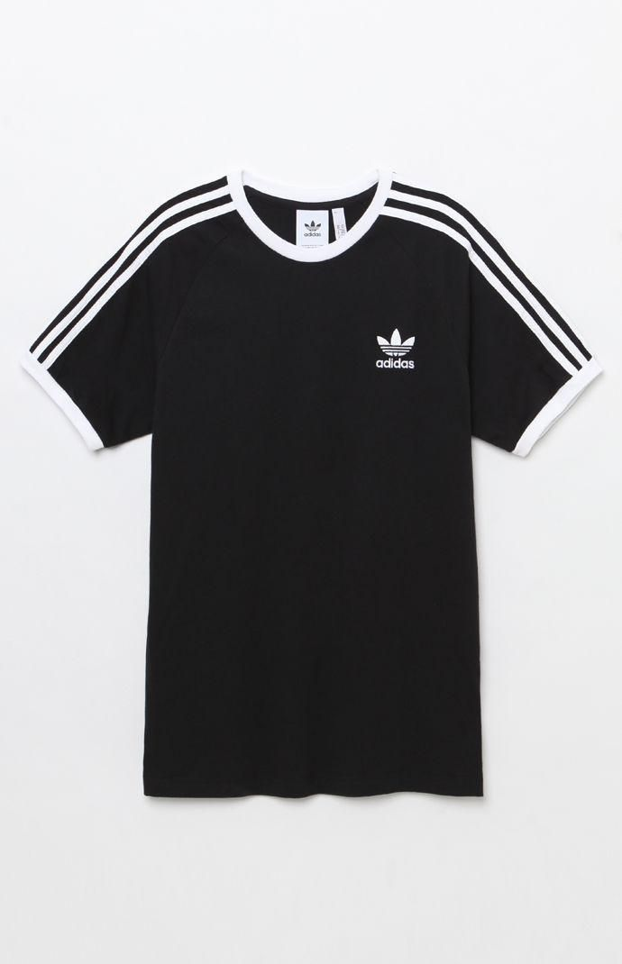 fac82dcf49535 adidas 3-Stripes Black Ringer T-Shirt in 2019 | T-Shirts - Funny ...